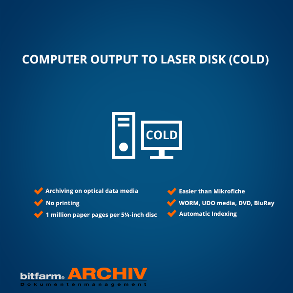 computer output to laser disk COLD
